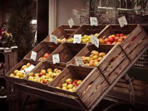 Äpfel in Kisten lagern